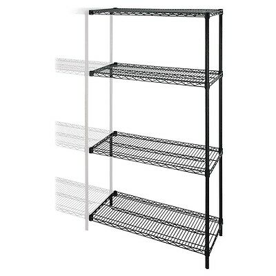"Industrial Adjustable Wire Shelving Add-On-Unit - 36"" x 24"" x 72"" - 4 x..."