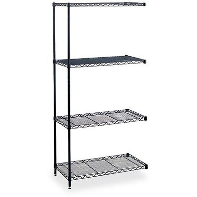 "Industrial Wire Shelving Add-On Unit - 36"" x 18"" x 72"" - 4 x Shelf(ves) -..."
