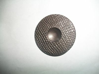 "Vintage Large Brown  Coat  Button  1 1/2"" W/shank"