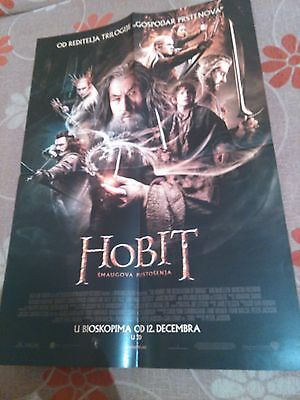 THE HOBBIT : THE DESOLATION OF SMAUG 2013 - IAN McKELLEN - SERBIA MOVIE POSTER