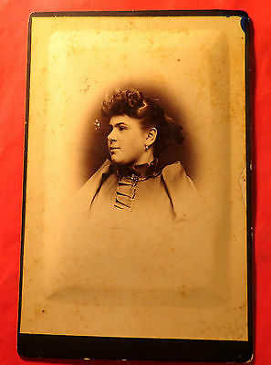 Antique 19th Century Cabinet LG Format Young woman unknown Location 1