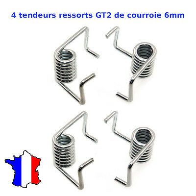 4 x Spring Tensioner for MXL & GT2 6mm timing belt 3D Printer Ressort tendeur