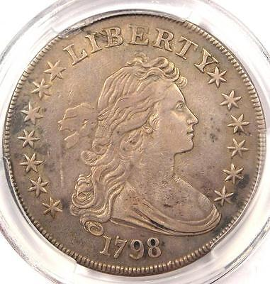 1798 Draped Bust Silver Dollar $1 - PCGS XF Details (EF) - Rare Certified Coin!
