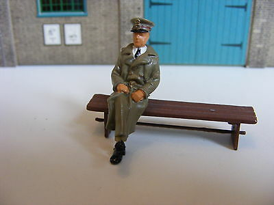 Seated Army Officer - 1:43  White Metal Model