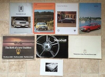 Collection Of 8 Brochures/Automobilia - Mercedez, Vauxhall, Rover, Range Rover
