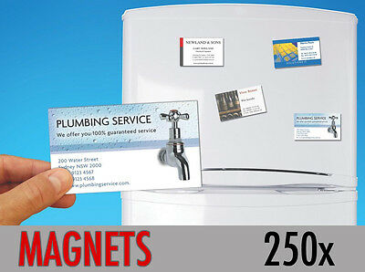 250 Custom Printed Fridge Magnet Business Card Magnets Promotional ONLY 56p each