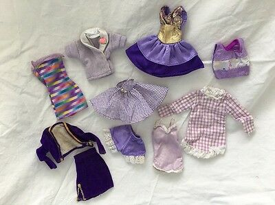 Genuine Barbie PURPLE Tagged Doll Dresses Tops Skirts PURPLES Lot #9