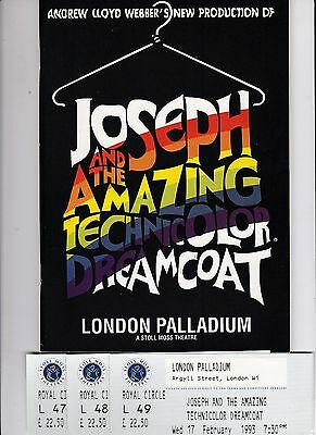 Joseph And The Amazing Technicolor Dreamcoat At The London Palladium + 3 Tickets