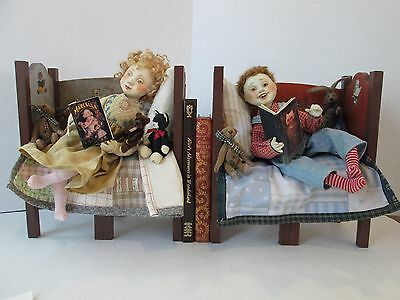 One of a Kind Bookends  Wax over Porcelain Lucia & Judith Friedericy