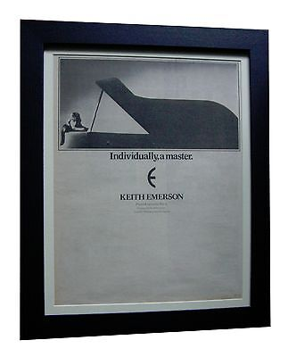 ELP+KEITH EMERSON+Piano Concerto+POSTER+AD+FRAMED+ORIGINAL 1977+FAST GLOBAL SHIP