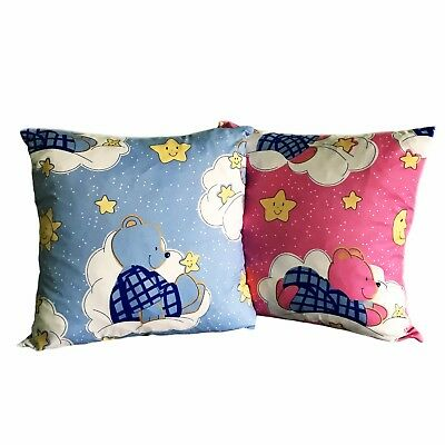 17'' x 17'' Children's Kids Nursery Cushion Covers Stars and Teddy Pink / Blue