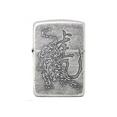 1941 Tiger 2 SI Zippo Lighter Windproof Made in USA GENUINE Packing