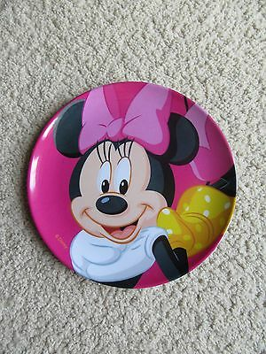 "DISNEY MINNIE MOUSE MELAMINE PINK PLATE 8"" 20cm"