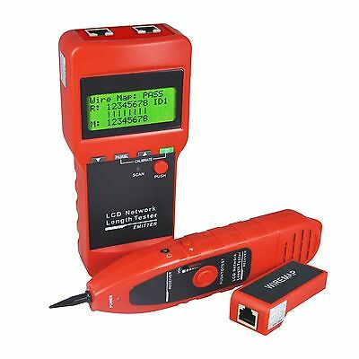 Network Ethernet LAN Cable Wire Line Tester and Measure Length Hunt Sort and ...