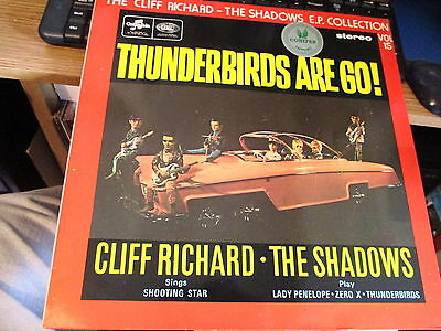 """Lp Vinyl Record-Cliff Richard-Thunderbirds Are Go-12"""" Lp Ep-Played Once"""