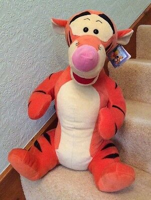 Disney Winnie The Pooh - Large 22 Inch Tigger Soft / Plush Toy With Tag VGC