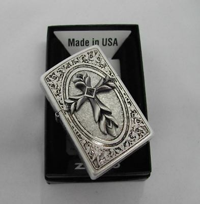 Pray Emblem SA Zippo Lighter Windproof Made in USA GENUINE Packing