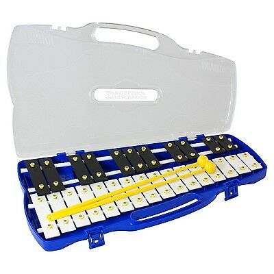 Percussion Workshop KB27 27 Note Chromatic Glockenspiel with Carry Case and B...