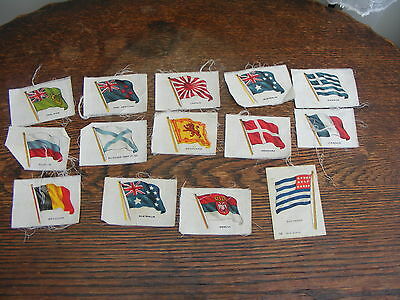 Silk Cigarette Cards 14 Assorted Flags