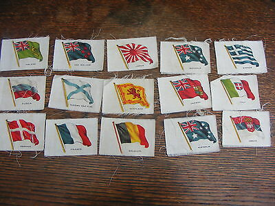 Silk Cigarette Cards 15 Assorted Flags