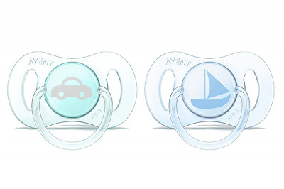Philips Avent New Born Dummy Blue  Mini Soother Pack of 2 Orthodontic Teat New