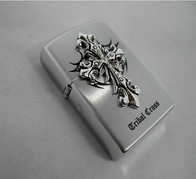 Tribal Cross EMB 1 Zippo Lighter Windproof Made in USA GENUINE Packing