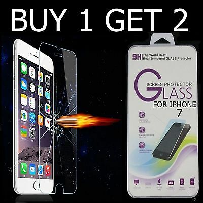"Tempered Glass Screen Protector for Apple iPhone 7 (4.7"") Genuine Display Saver"