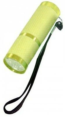 Compact 9 Led Glow In The Dark Stylish Torch With Lanyard RT365