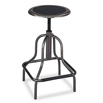 Diesel Series Backless Industrial Stool, High Base, Pewter Leather Seat