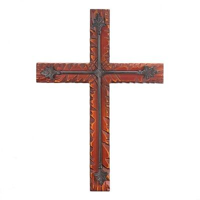 WOOD AND IRON WALL CROSS Spiritual and religious gift