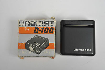 "Unomat D-100 slide viewer small compact up to 2"" x 2"" size 35mm transparency"
