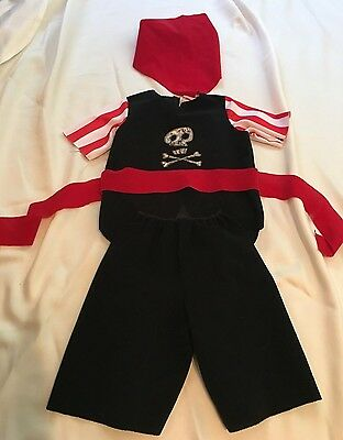 Tiny Treats Pirate Halloween Costume Toddler 2T