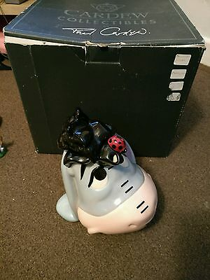 paul cardew disney pooh eeyore teapot limited edition boxed winter head rare