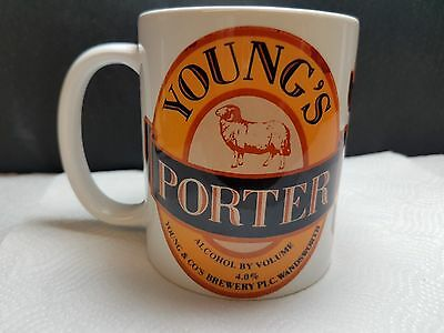 YOUNGS 11oz Coffee/Tea Mug..Very Slight Print error/fade to front of the print
