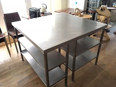 Stainless Steel Preparation Table Commercial Kitchen
