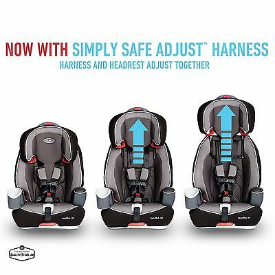 Child Car Booster Seat 3 In 1 Graco Harness Seats For Toddler Boys Girls Safety