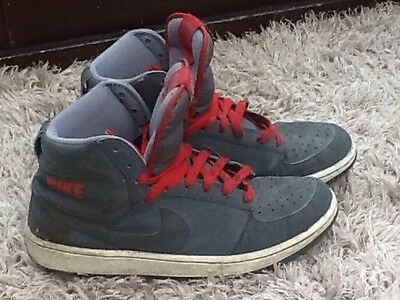 Nike High Tops GREY with RED detail - Size UK 9