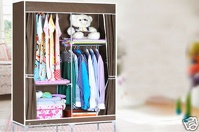 * Coffee Dust-Proof Collapsable Steel  Non-WovenL110*W46*H168 DIY Wardrobe!@^