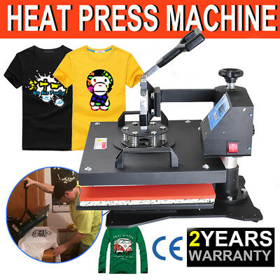 8in1 Transfer Sublimation T-Shirt Mug Hat Plate Cap Heat Press Printing Machine