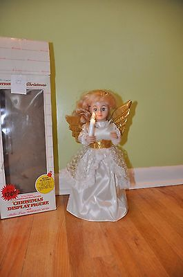 Vintage Telco Motionette Christmas Holiday Angel Animated Musical Lighted Box