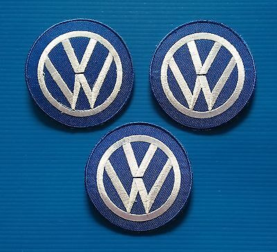 3 LOT VOLKSWAGEN 3 Inch Embrodered Iron Or Sewn On VW Patches Free Ship