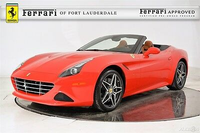 2016 Ferrari California T Certified Pre-Owned CPO Magneride Apple Carplay Two-Tone Carbon Fiber LED Shields Diamond Pattern Forged