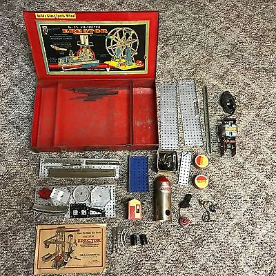 Vintage No 8 1/2 All Electric Erector Set Builds Giant Ferris Wheel A.C. Gilbert