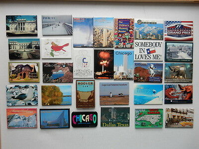 One Selected Souvenir Fridge Magnet from around the USA