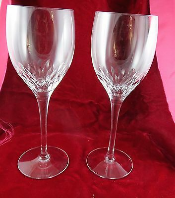 """2 Orrefors Prelude Wine Claret Glasses 7 1/4"""" with Box"""