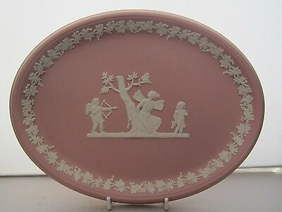 Wedgwood Pink Jasper Bas Relief Large Oval Plaque Tray