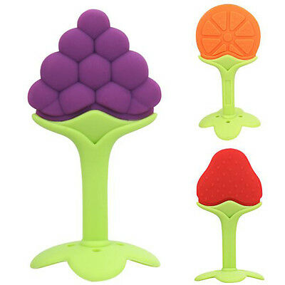 Good Silicone Baby Fruit Teether Dental Care mordedor Toothbrush Training