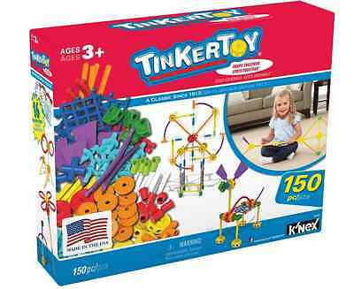Little Kids Classic Vintage TINKERTOY 150 Piece Toy Building Value Set Toys New