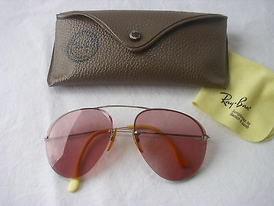 Bausch& Lomb B&L Ray Ban BALGRIP 1/30 10 K Aviator Brille Sonnenbrille Vintage