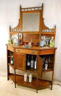 ANTIQUE VICTORIAN WALNUT CHIFFONIER c1880-1900 COCKTAIL BAR SIDEBOARD HOME BAR